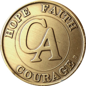 2 Year CA Medallion Cocaine Anonymous Bronze Sobriety Chip
