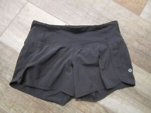 Lululemon black speed shorts running sz 4 mint! L@@K!