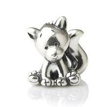 New Cute & Cuddly Fox Foxy Smarty Sterling Silver Charm Bead S925, Fox Charm