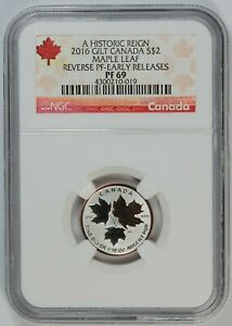 2016 NGC PF 69 Canada / Canadian Silver Maple Leaf 1/10oz Silver - Reverse Proof