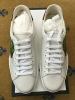 New Gucci Mens Trainers Sneakers Shoes White Leather Ace UK 10 US 11 44 Panther