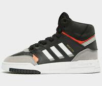 Adidas Originals Drop Step GS ( UK Size 5 EU 38 ) Black / White Latest NEW