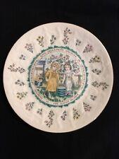 Royal Doulton Kate Greenaway Almanack Plate 1977 Aquarius