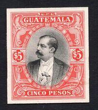 Guatemala 1900s cinco pesos stamp MH Proof R!R!R! 2lot