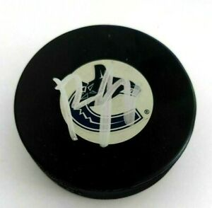 Brendan Gaunce Signed Vancouver Canucks Puck Auto Autograph NHL Bruins