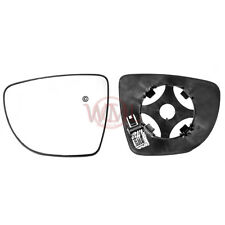 RENAULT CLIO 2013->2017 DOOR MIRROR GLASS SILVER CONVEX, HEATED & BASE,LEFT SIDE