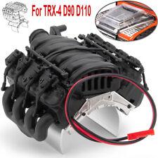 Engine Cover Radiator Motor Fan For 1/10 RC Traxxas TRX-4 D90 D110 V8 Crawler
