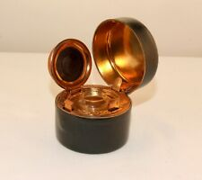 More details for antique travelling / portable inkwell- mint cond' - tooled green leather - c1900
