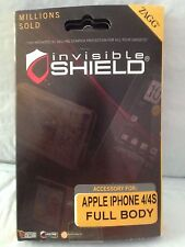 New Zagg Invisible Shield for Apple iPhone 4 FULL BODY
