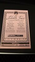 AUTHENTIC 1999 Lilith Fair Promo Flyer Ad Poster Sarah McLachlan-Sheryl Crow