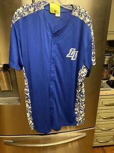 Las Vegas Area 51s MiLB Baseball Digital Camouflage Camo Jersey DAMAGED XL