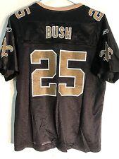 Reebok Women's NFL Jersey New Orleans Saints Reggie Bush Black sz M