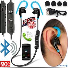 WIRELESS BLUETOOTH EARPHONES FOR SAMSUNG iPHONE HUAWEI HTC NOKIA SPORTS GYM RUN