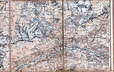 Airolo gottardo Fibbia rotondo 1911 parte mapa/ln. bedretto Madrano minantes Sella