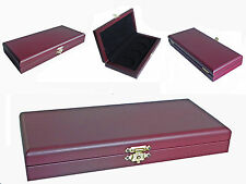 WOODEN COIN BOX DISPLAY CASE HOLDER for 4 COINS 35mm, No-20!