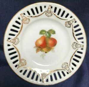 TRINKET DISH MARKED FOREIGN WITH PEARS