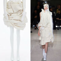 new COMME DES GARCONS SS13 runway raw beige cotton bundled mini skirt S