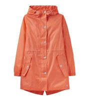 Joules Golightly Plain Waterproof Jacket (Bright Coral)