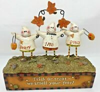 Crazy Mountain Ghosts Covered Box Votive Tea Light Candle Holder Scary Mo Surly