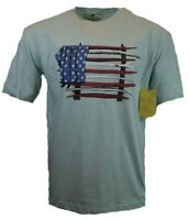 American Flag Men's TShirt S M XL XXL Surfboard 4th of July Graphic Tee USA Blue