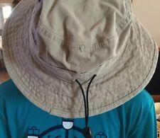 Boys Girls tan khaki bucket hat Size Small Sydney Australia Zoo Sun Protection