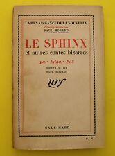 Le Sphinx Et autres contes bizarres - Edgar Poë - 1934