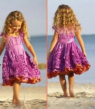 Nwt Meli Meli Chasing Fireflies Faerie Dance Ruffles Silk Dress Purple Girl 3T
