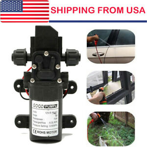 12Volt Water Pump 130PSI Self Priming Diaphragm High Pressure Automatic Switch