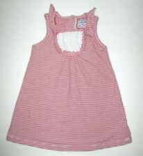 INFANT GIRLS MAYORAL RED STRIPED EYELET LACE TRIM DRESS SIZE 9 MONTH 4TH OF JULY