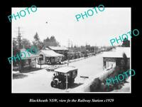 OLD LARGE HISTORICAL PHOTO OF BLACKHEATH NSW VIEW OF THE RAILWAY STATION c1929