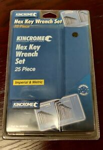 Kincromec Hex Key Wrench Set - 25 pcs Imperial & Metric in softcase