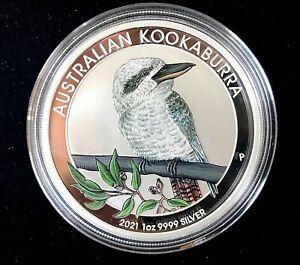 Australian 2021 Kookaburra Berlin World Money Fair 1 oz Silver Coin.