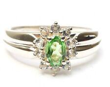 Damen Tsavorit Ring 925 Silber rhodiniert 0,78 ct. Edelsteine 19,0 mm Ø Schmuck
