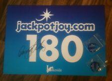 Lakeside darts Darryl Fitton 'The Dazzler', hand signed in person 180 board.