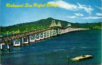 Vtg Richmond San Rafael Bridge Mt Tamalpais San Francisco Bay CA Postcard