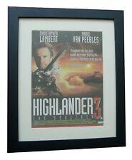 HIGHLANDER+LAMBERT+Movie+Film+POSTER+AD+ORIGINAL 1994+FRAMED+EXPRESS GLOBAL SHIP