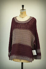 NWT FREE PEOPLE Size S/P - L/P Slouch Loose Knit Cut Very Wide Sweater $108.00