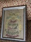 ANTIQUE RELIGIOUS ANGELES EUROPE FOREIGN TAPESTRY GESSO GOLD GILD FRAME WALL ART
