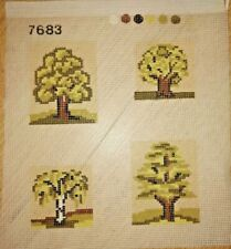 CANEVAS ENFANT à faire Différents arbres