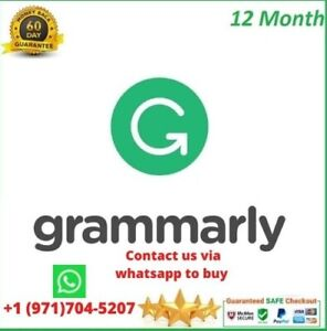 Grammar ly Premium✅Fast delivery✅1Year Subscription✅WithWarranty✅Trusted Seller