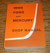 1966 Ford and Mercury Shop Service Manual 66 Galaxie Monterey Wagons Big Cars