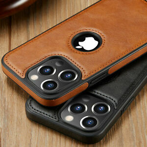 For iPhone 13 12 Pro Max 7 8PLUS Case Slim Leather Luxury Thin Shockproof Cover