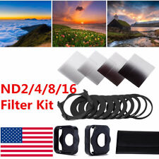 Complete 2/4/8/16 ND Filter Kit For Cokin P+Square Filter Holder+Adapter+Hood