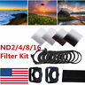 Complete ND 2 4 8 16 Filter Kit for Cokin P with Square Holder + Ring Adapter US