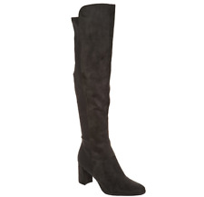 Marc Fisher Faux Suede Over-the-Knee Boots - Loran Dark Gray Womens 9.5W Wide