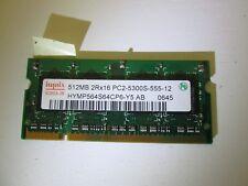 Memoria RAM HYNIX HYMP564S64CP6-Y5 512MB 2Rx16 PC2-5300S-555-12