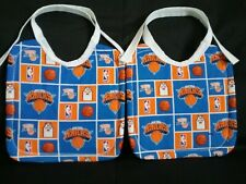 2 NEW HANDMADE LARGE COTTON NEW YORK KNICKS NBA BABY/TODDLER BIBS WITH TIES