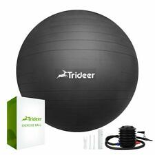Trideer Exercise Ball (Multiple Colours), 45-85cm Gym Ball Supports 2200lbs,