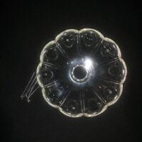Coupelle pour lustre, girandole, applique, en verre avec 5 fixations