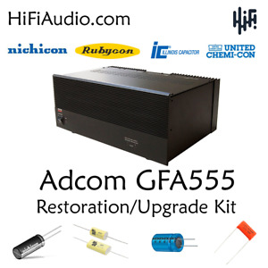 Adcom GFA-555 amplifier recap service kit fix repair restoration capacitor